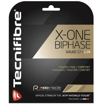 テクニファイバー tecnifibre  x-one biphase ゲージ  ナチュラル