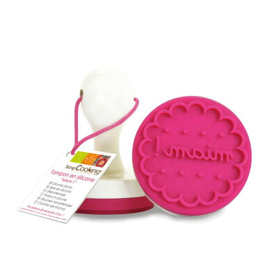 ScrapCooking Miam Silicone Stamp with Handle for Cookies and Fondant