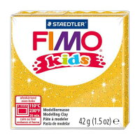 ステッドラー CLAY FIMO オーブンクレイ フィモ キッズ グリッターゴールド 8030-112