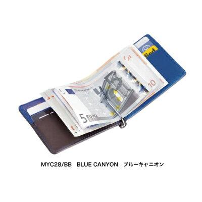 TROIKA (トロイカ) ICパスケース付カードケース&マネークリップウォレット、ブルーキャニオン MYC28/BB