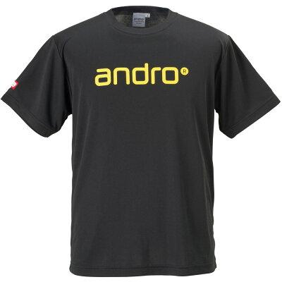 アンドロ andro キッズ 卓球 ナパTシャツ IV ブラック×イエロー 305700 ジュニア
