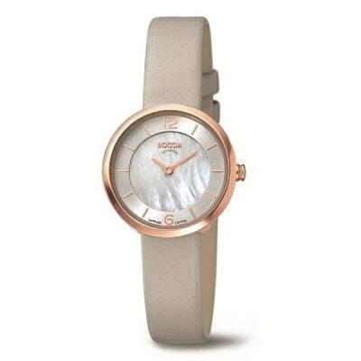 ボッチアチタニューム チタン製レディース革バンド腕時計 3266-02