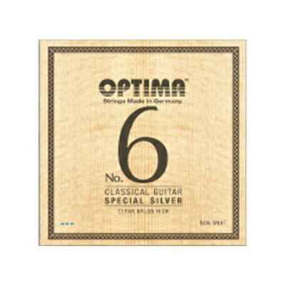 オプティマ OPTIMA ギター弦 No6.SNHT スペシャルシルバー・クリアナイロン・ハイ