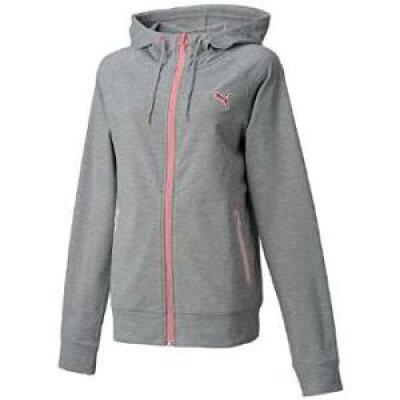 PUMA プーマ フーデッドスウェットジャケット S athletic gray heather 513565