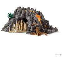 大火山とティラノサウルス恐竜ビッグセット シュライヒ