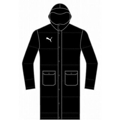 PUMA プーマ TTESSPRO JRLong Down Coat JP 140 Puma Black