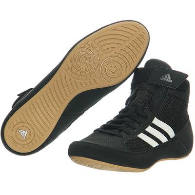 アディダス adidas レスリングシューズ HVC WRESTLING SHOES コアブラック/ランニングホワイト/アイロンメット KDO02 AQ3325