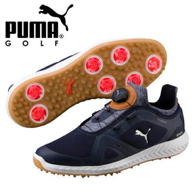 PUMA プーマ ゴルフ イグナイト パワーアダプト ディスク 25.5 Peacoat-Peacoat-Puma White 190582