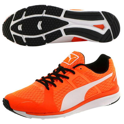 PUMA プーマ Speed Lite Wide 26 Shocking Orange-Puma White