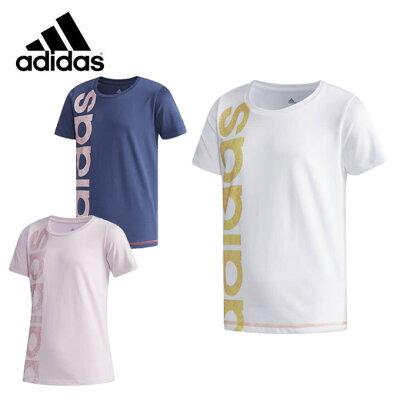 adidas アディダス (子供用)グラフィックリニアロゴ Tシャツ CX3816  J150