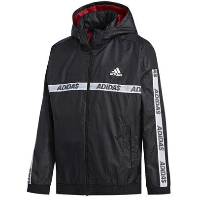 アディダス adidas ジュニア B SPORT ID ウインドブレーカー ジャケット 裏起毛 ブラック FYQ47 EC9181 男の子