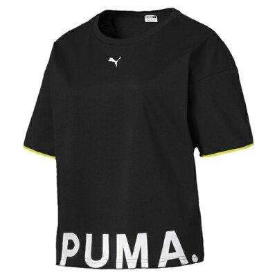 PUMA プーマ CHASE ウィメンズ SS Tシャツ S Cotton Black