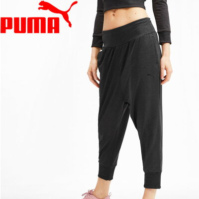 PUMA プーマ SOFT SPORTS Drapey Pants S Puma Black Heather 581036