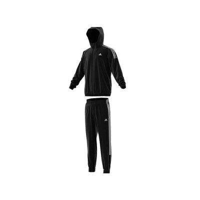 アディダス adidas メンズ ウーブントラックスーツ 裏メッシュ ブラック/ブラック/ホワイト FWS42 EB7651