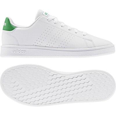 アディダス adidas ジュニア スニーカー アドヴァンコート ADVANCOURT K ホワイト/グリーン/グレーTWO EPG24 EF0213 男の子 女の子 キッズ