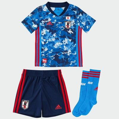 アディダス adidas ジュニア サッカー日本代表 レプリカ ホームミニキット 3点セット トゥルーブルー GEM15 ED7354
