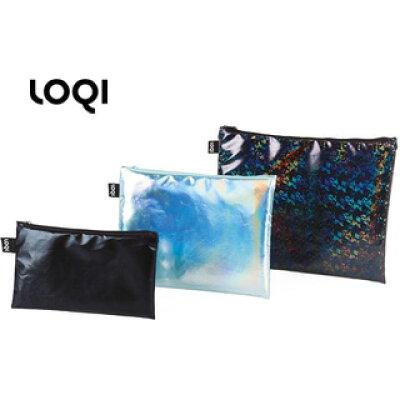 LOQI/ローキー ジップポケット METALLIC