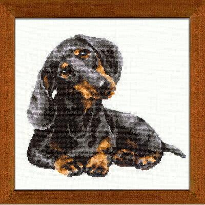 RIOLISクロスステッチ刺繍キット No.906 Daschound ダックスフント 犬