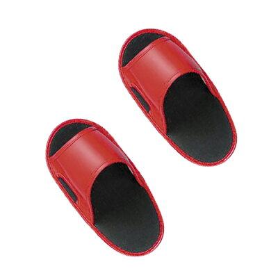オーバーシューズスリッパ レッド No.820/靴履いたまま 履き替えなし 重ね履き サンダル