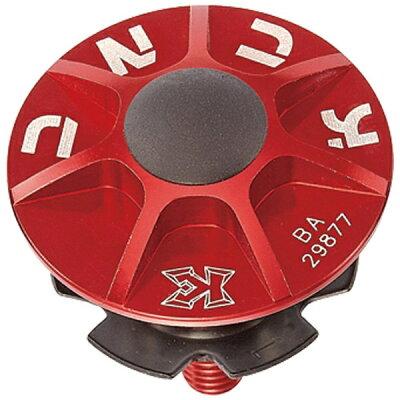 KCNC ヘッドセットパーツ SLアヘッドキャップセット 1-1/8 レッド 506302