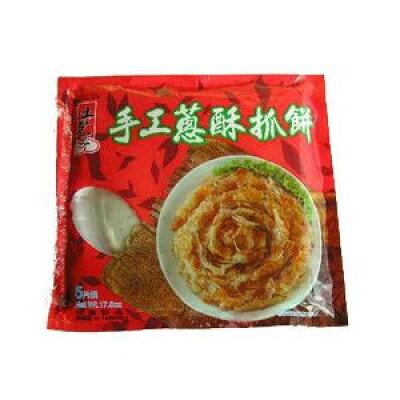 手軽にフライパンで焼いて 冷凍 ネギパンケーキ 土包子葱酥抓餅 500g (100g×5枚入り)