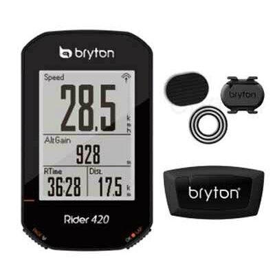 ブライトン Riderライダー 420T ダフルセット ケイデンス ハートレートセンサー付属 GPSサイクルコンピューター