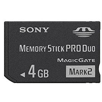 SONY メモリースティック PRO Duo 4GB Mark2 MS-MT4G ソニー 海外パッケージ品 - Sony