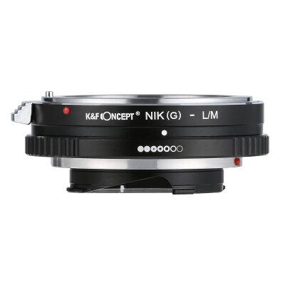 K&FCONCEPT マウントアダプター KF-NGM ニコンFマウント Gタイプ対応 レンズ → ライカMマウント変換 絞りリング付き