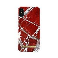 イツワ商事 IPHONE X FASHION CASE S/S 18 SCARLET RED MARBLE IDFCS18-I8-71
