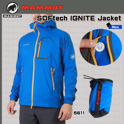 MAMMUTマムート SOFtech IGNITE Jacket Men ソフテックイグナイトジャケットBGN