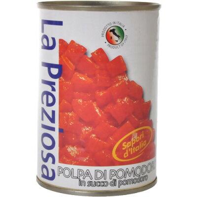 ラ・プレッツィオーサ 皮なしトマト缶 ダイス(400g)