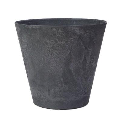 グリーンポット アートストーン ラウンド 27cm ブラック