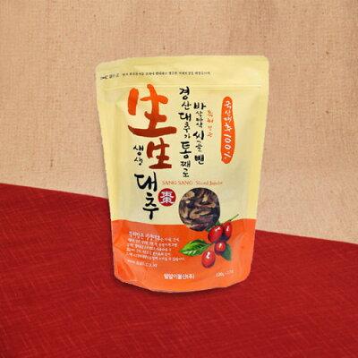 生生 韓国産 無添加 自然乾燥 スライスなつめ 80g
