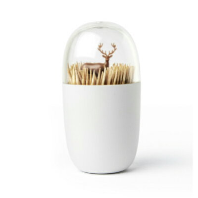 QUALY 爪楊枝入れ Toothpick Holder Deer Meadow (草原に佇むシカ) 521706900