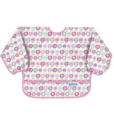 バンキンス スリーブビブ USA発食事用防水長袖ビブ 6~24ヶ月 ブルーム 1枚入