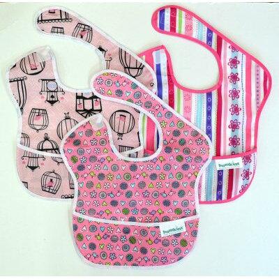 バンキンス Bumkins スーパービブ 3枚パック 6ヶ月~2歳 Girl Assorted pink  ナチュラルリビング