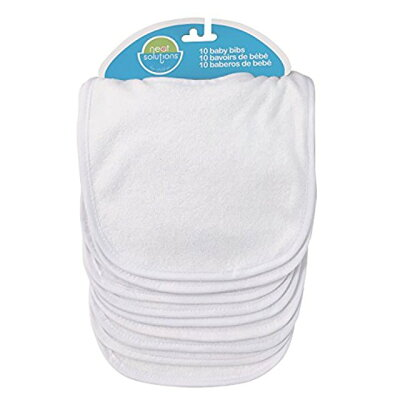Neat Solutions ニートソリューション Infant Bibs 乳児用よだれかけ インファント ビブ 10枚入 White ホワイト