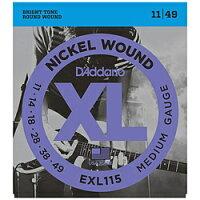 EXL115 エレキギター弦 Blues/Jazz Rock / D'Addario