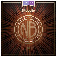 ダダリオ/D'Addario Nickel Bronze Wound Acoustic Guitar Strings NB1152/Custom Light, 11-52