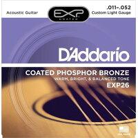 D'Addario ダダリオ コーティング・アコースティックギター弦 EXP26