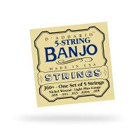 D'Addario J60+ダダリオ バンジョー弦Banjo 5-String and Tenor