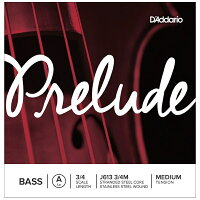 D'Addario ウッドベース(コントラバス)弦 J613 3/4M Prelude Bass Strings A-stainless steel