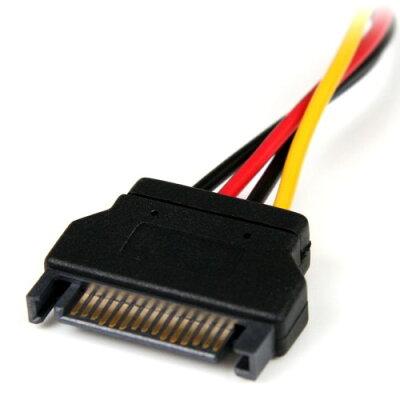 スターテック 電源コネクタ変換アダプタケーブル 15cm SATA電源 15ピン オス - ペリフェラル電源 4ピン メス LP4SATAFM6IN
