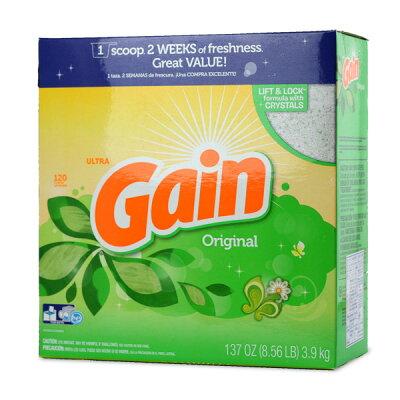 GAIN ゲイン洗濯洗剤 粉末 オリジナル 120回分 3.9kg / 137oz ランドリーパウダー洗剤P&G輸入洗剤