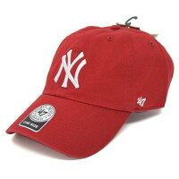 MLB ヤンキース キャップ/帽子 レッド 47ブランド