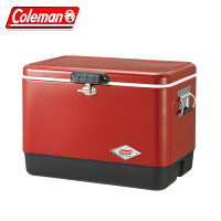 コールマン Coleman 54QTスチールベルトクーラー レッド/ブラック 3000004320