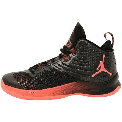 NIKE バスケットボール シューズ ジョーダン スーパーフライ 5 メンズ ブラック/ブラック/ダークグレー/ウルフグレー/インフラレッド23 844677-003