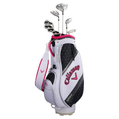 キャロウェイ レディース ゴルフクラブセット ソレイル パッケージセット ピンク キャディバッグ付//W#1、W#5、6H、Ir#7、Ir#9、PW、SW、PT L SOLAR18BLSM