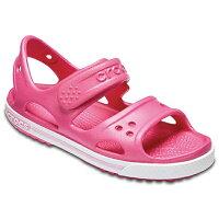 クロックスジャパン 子供用サンダル Kids Crocband II Sandal 17.5cm:C10/Paradise Pink×Carnation #14854