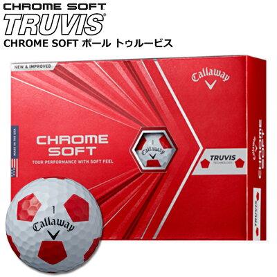 キャロウェイ CHROME SOFT TRUVIS ボール 12個入り CW20-CHRSFT-TRRED